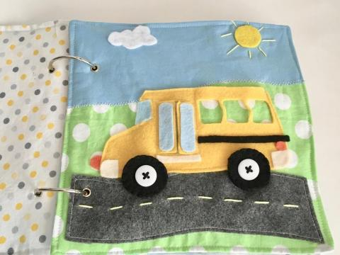 school bus quiet book pattern