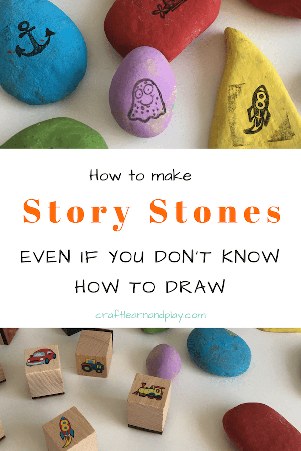 Easy to make story stones that anyone can make. Even if you don't know how to draw, this can be great kids activities idea you can do and have neat painted stones for story time. Add favourite story characters, favourite objects and play can begin. Click to find out more.