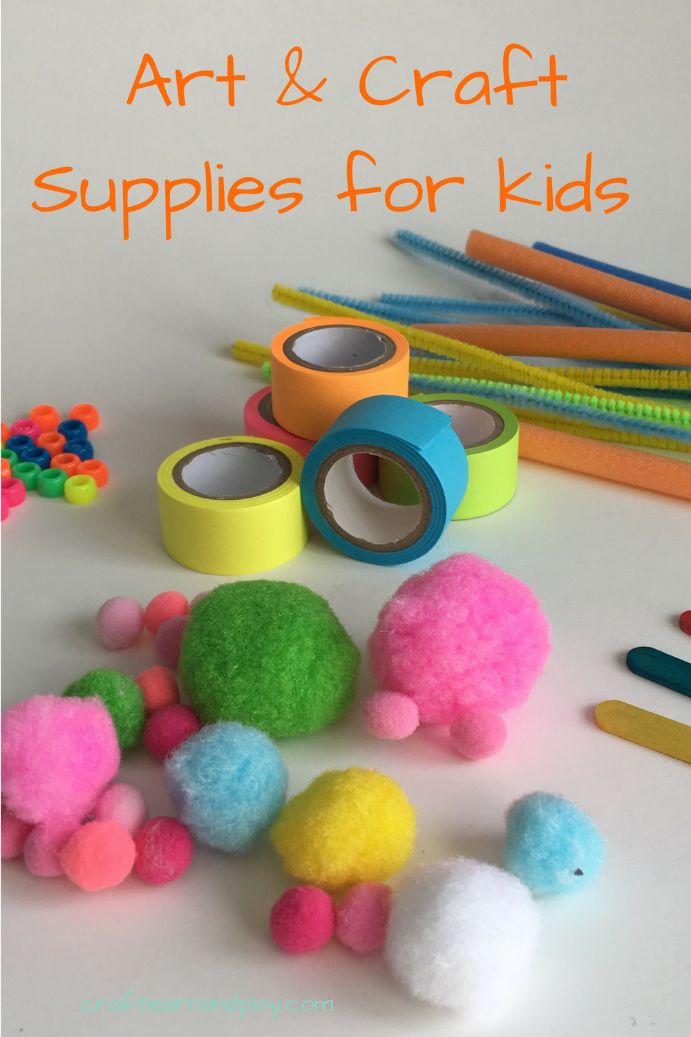 The ultimate list of crafts and arts supplies for kids contains the most used craft supplies for toddlers and preschoolers. List also includes objects you can collect in nature, up-cycled materials and household objects that can be used for kids crafts. Click for full list plus download free list that you can custoimize.