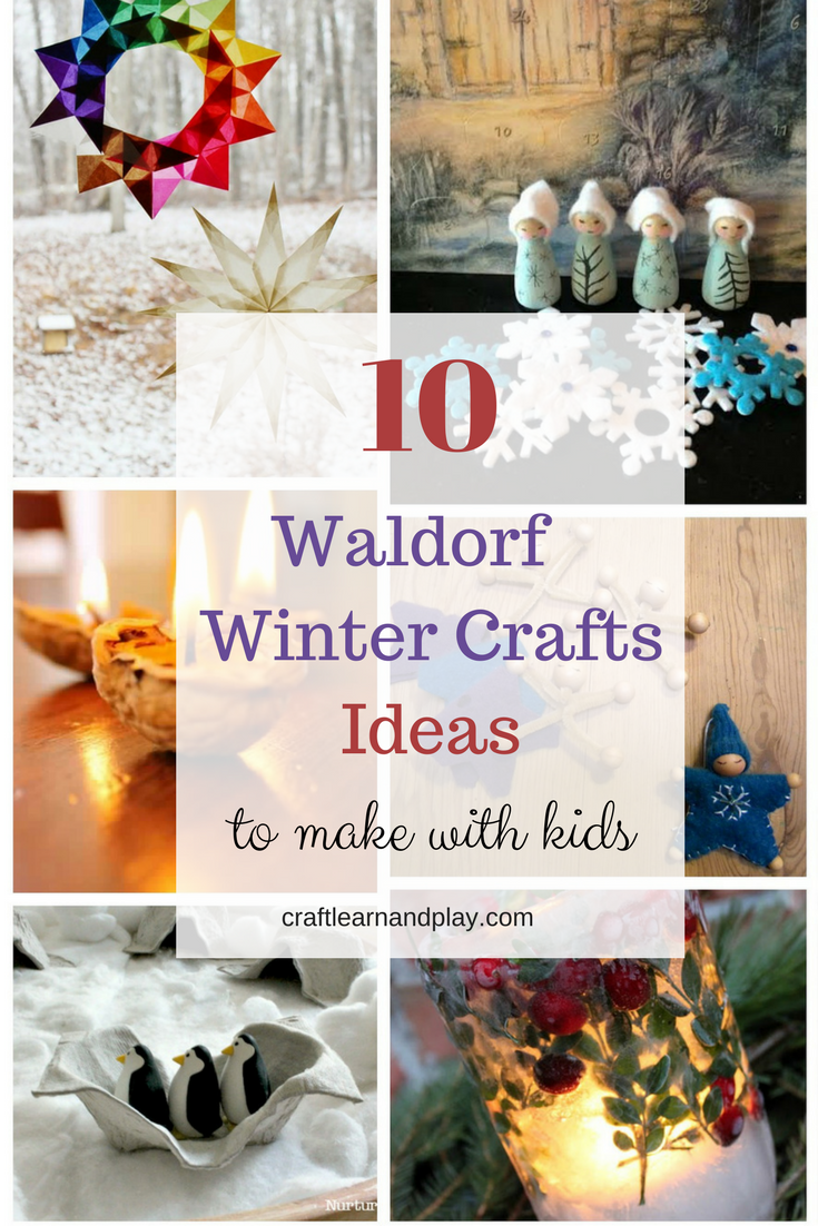 Waldorf Winter Crafts for Kids - Winter craft ideas for kids - Waldorf inspired activities - The best winter crafts - Kids crafts - Kids Activities