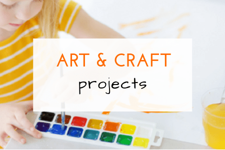 art and crafts for kids, ideas, projects and fun with kids