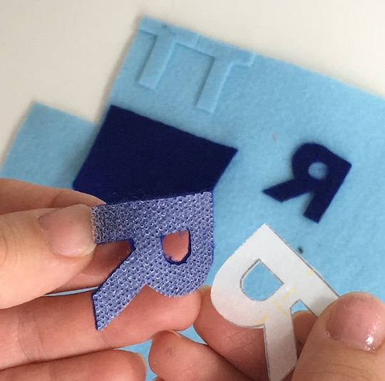 double sided fusible web for making quiet book felt letters