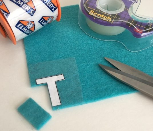 One of the best felt tips to trace your design is to use clear tape. Click to find out 3 simple ways to trace and cut out your patterns from felt.