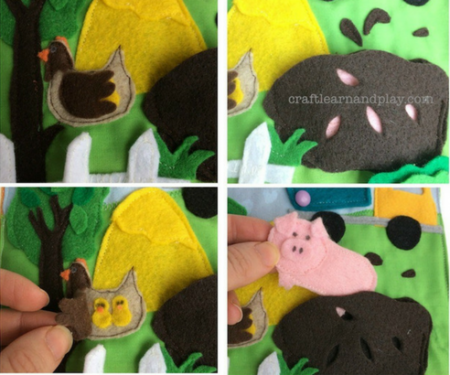 handmade farm quiet book for toddlers