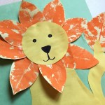 Make Vibrant Lion Craft With Leaf Stamping