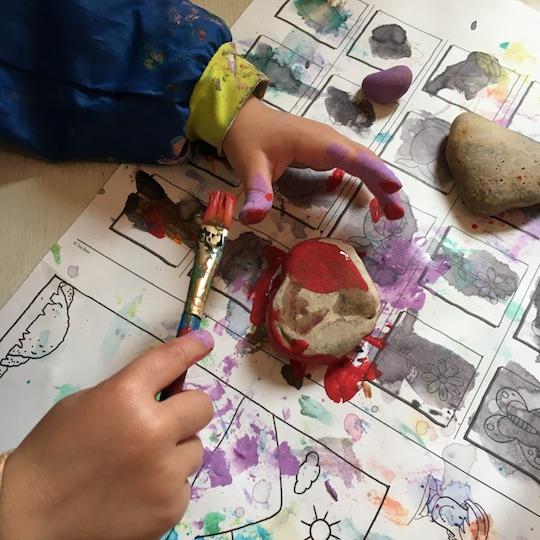 rock paintig for preschooler