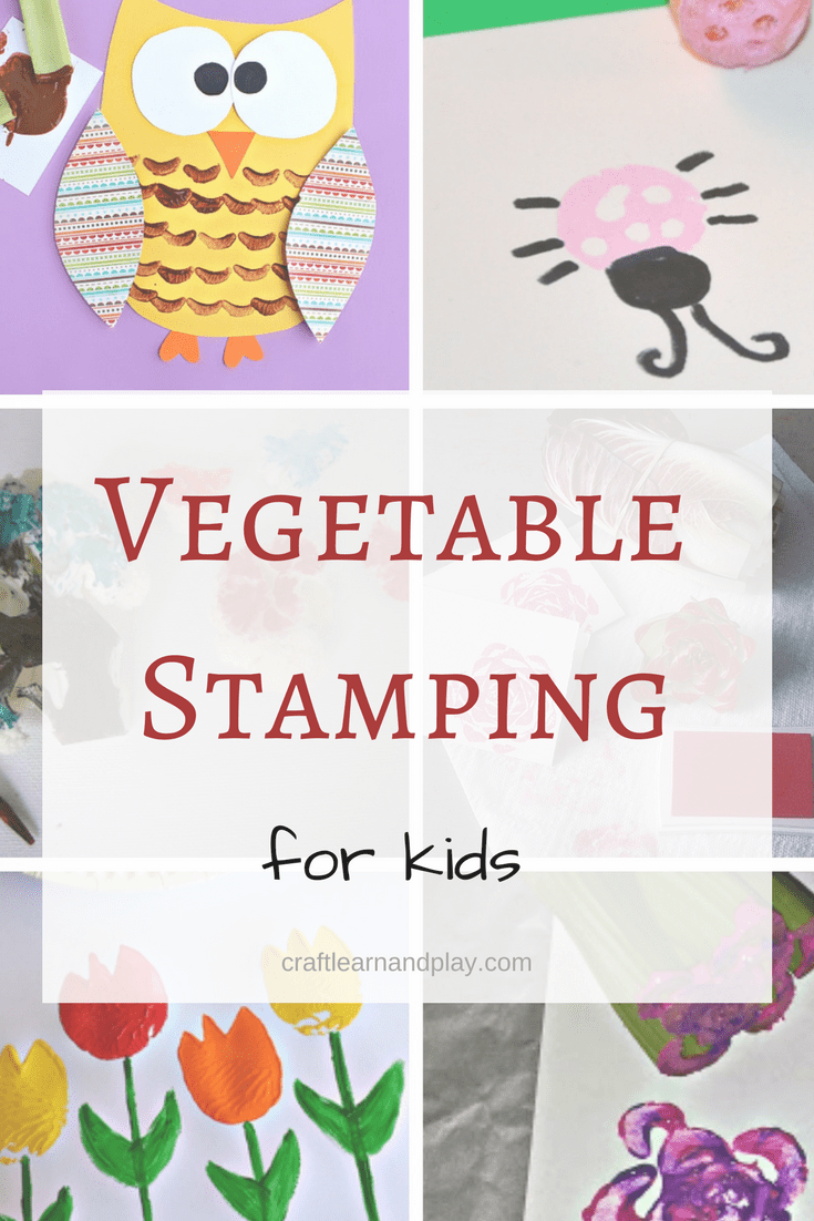 vegetable crafts for kids - vegetable stamping projects