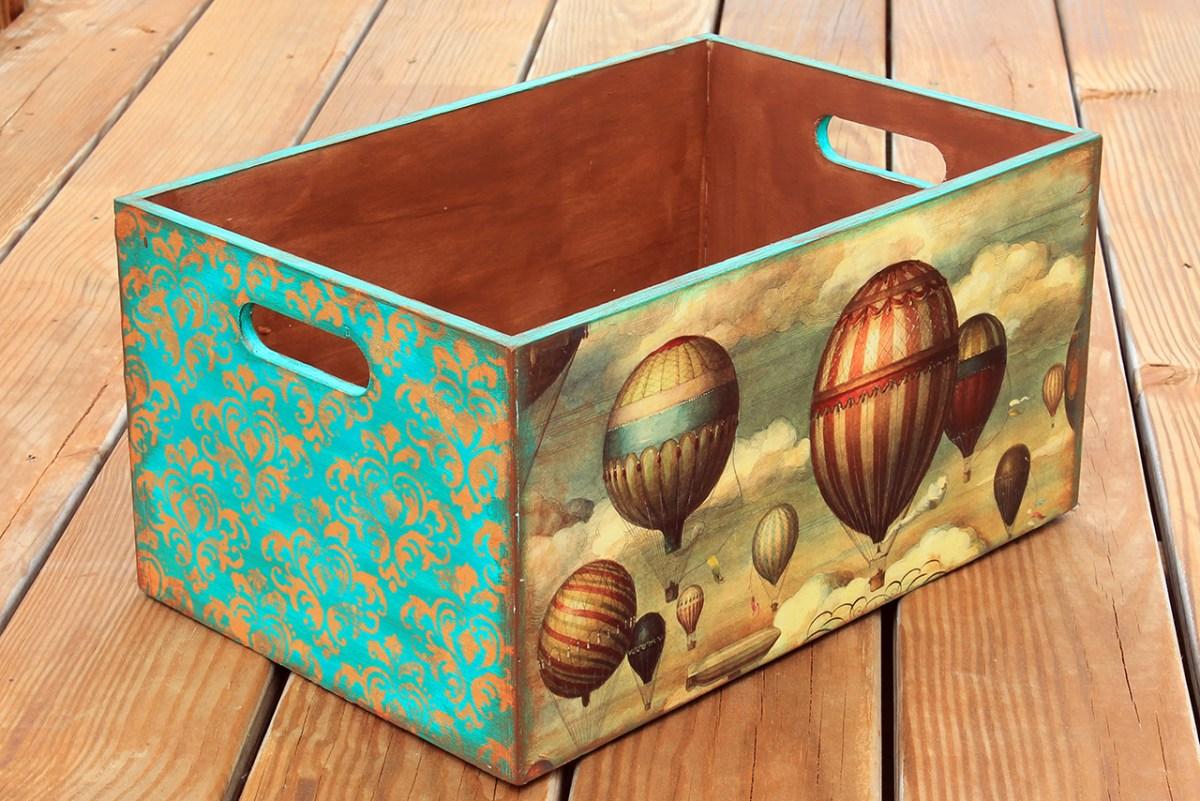 Κουτι αποθηκευσης αεροστατα με φυλλα χρυσου