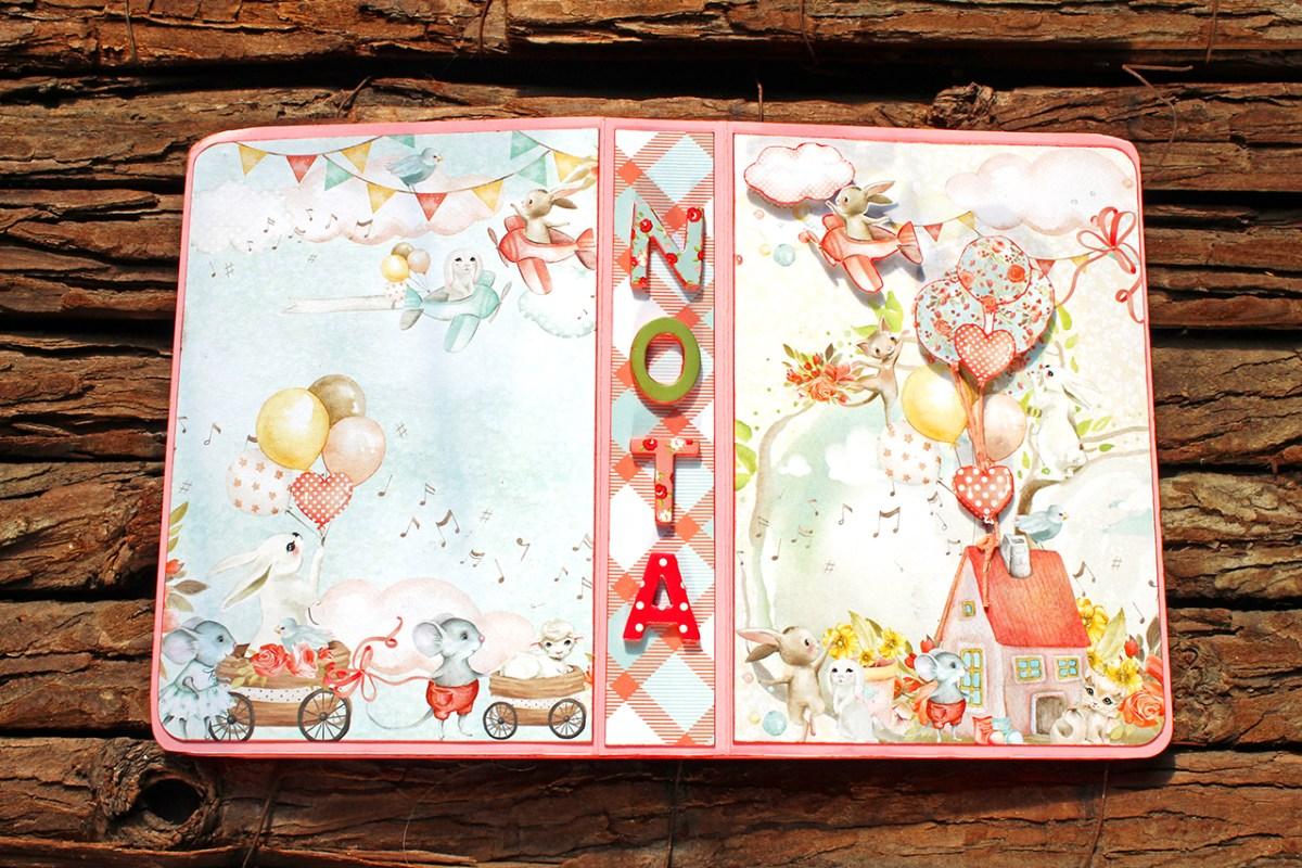 Mini scrapbooking album για κοριτσάκι