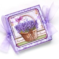 "Mini album scrapbooking accordion style ""Lavender"""