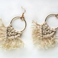 Μακραμέ σκουλαρίκια boho chic- Σεμινάριο Χειροτέχνικα