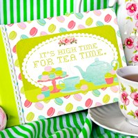 "Scrapbooking treat album  ""Tea time""."