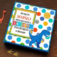 "Scrapbooking 6x6 accordion album ""Dinosaurs"""