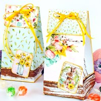 Scrapbooking spring treat bags