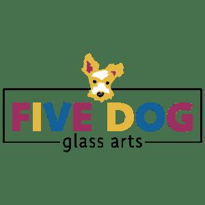 Five Dog Glass Arts Logo - Designed by CraftnDraft Inc