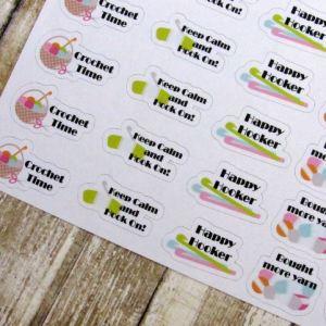 Crochet Stickers