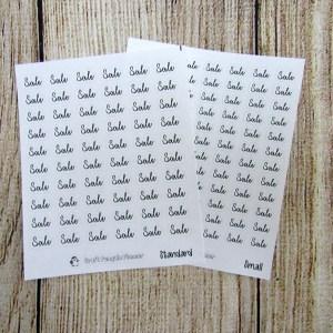 Sale Script Stickers