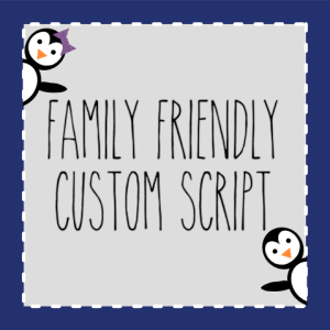 Custom Script Stickers