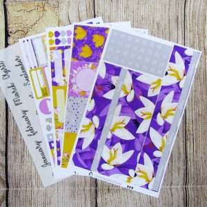 Crocus Monthly Sticker Set, Customizable, BIG HAPPY PLANNER