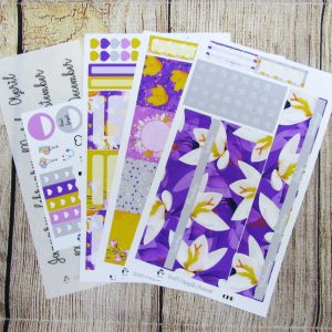 Crocus Monthly Sticker Set, Customizable, CLASSIC HAPPY PLANNER