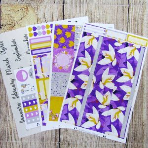 Crocus Monthly Sticker Set, Customizable, ERIN CONDREN