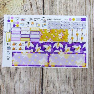 Crocus Monthly Sticker Set- Customizable, HOBONICHI WEEKS