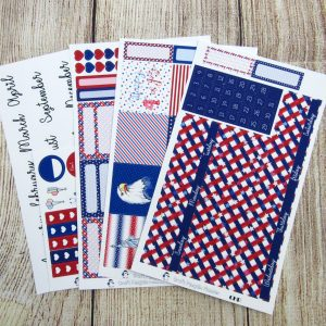 One Nation Monthly Sticker Set, Customizable, CLASSIC HAPPY PLANNER