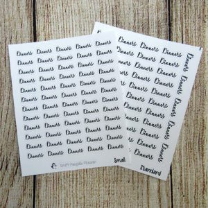 Dinners Script Stickers