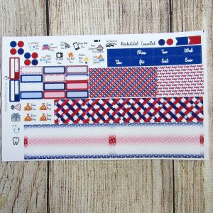 One Nation Monthly Sticker Set- Customizable, HOBONICHI WEEKS