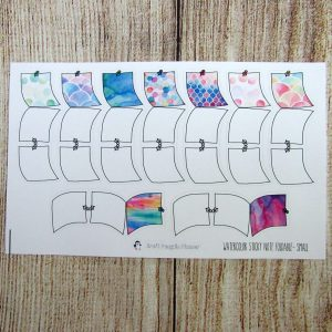 Small Watercolor Sticky Note Hand drawn Foldable Sticker
