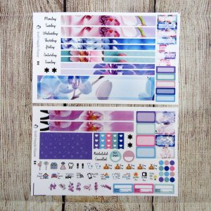 Orchids Monthly Sticker Set- Customizable, B6