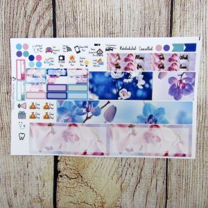 Orchids Monthly Sticker Set- Customizable, HOBONICHI WEEKS
