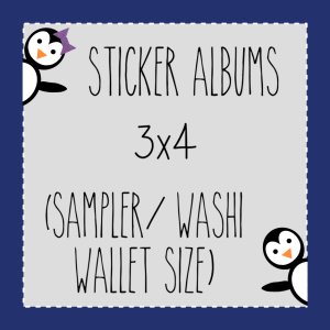 3x4- Sampler Size Sticker Albums (top loading)