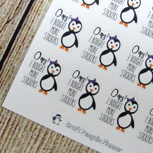 Snowflake- Oops, I bought more stickers