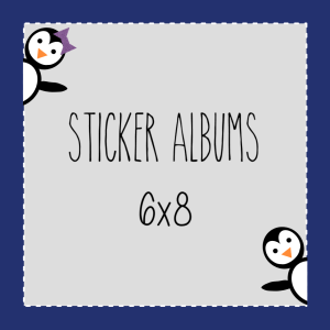 6x8 Size Sticker Albums (top loading)