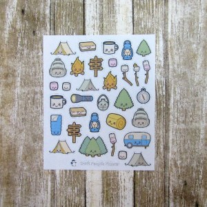 Camping Deco Stickers