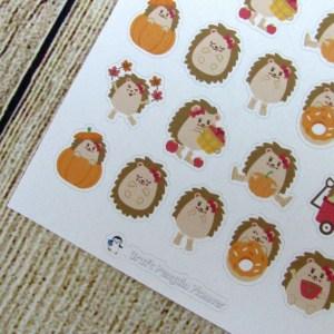 Fall Hedgehogs