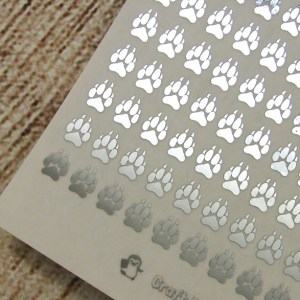 FOILED Tiny Wolf Paw Print