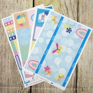 After the Rain Monthly Sticker Set, Customizable, ERIN CONDREN