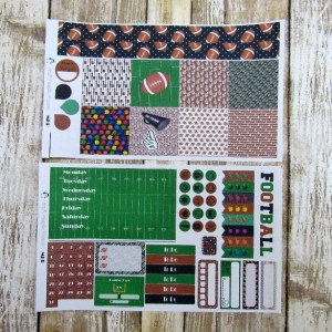 Football Game Day Weekly, MINI HAPPY PLANNER