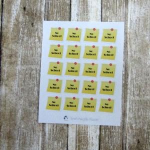 No School stickers