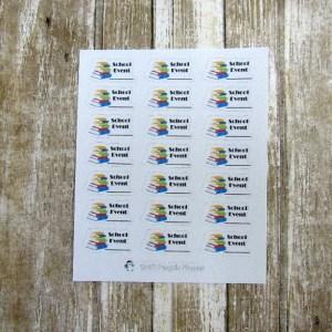 School event stickers