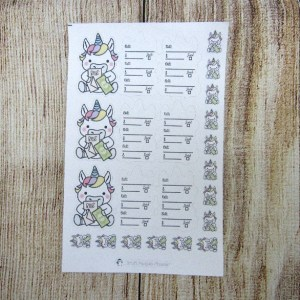 Unicorn Bills Foldable Sticker