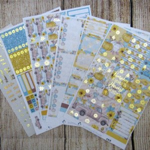 Pumpkin Harvest FOILED Weekly, CLASSIC HAPPY PLANNER