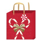 3 Designs Of Cute Crafts Using Paper Bags American Crafts Small Gift Bag With Tag Candy Cane Gold Foil