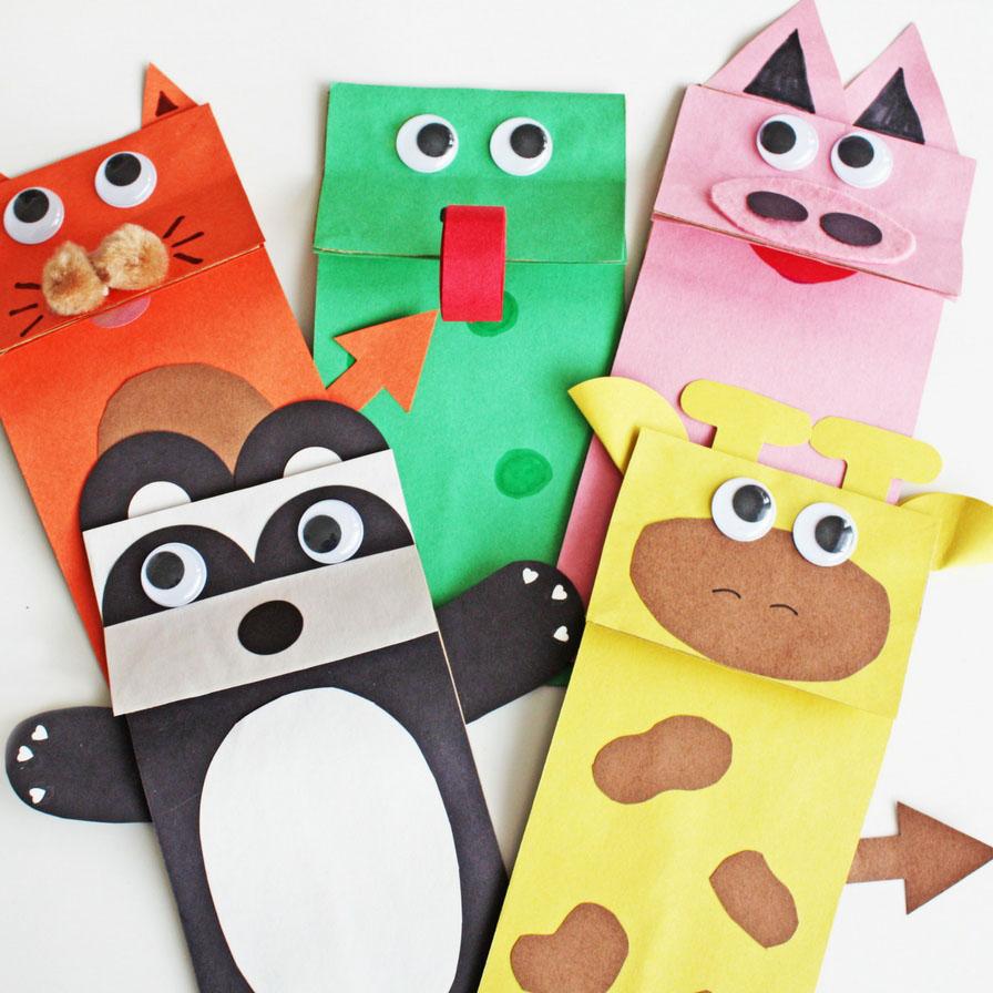 3 Designs of Cute Crafts Using Paper Bags Diy Paper Bag Puppets Fun365