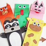 3 Designs Of Cute Crafts Using Paper Bags Diy Paper Bag Puppets Fun365