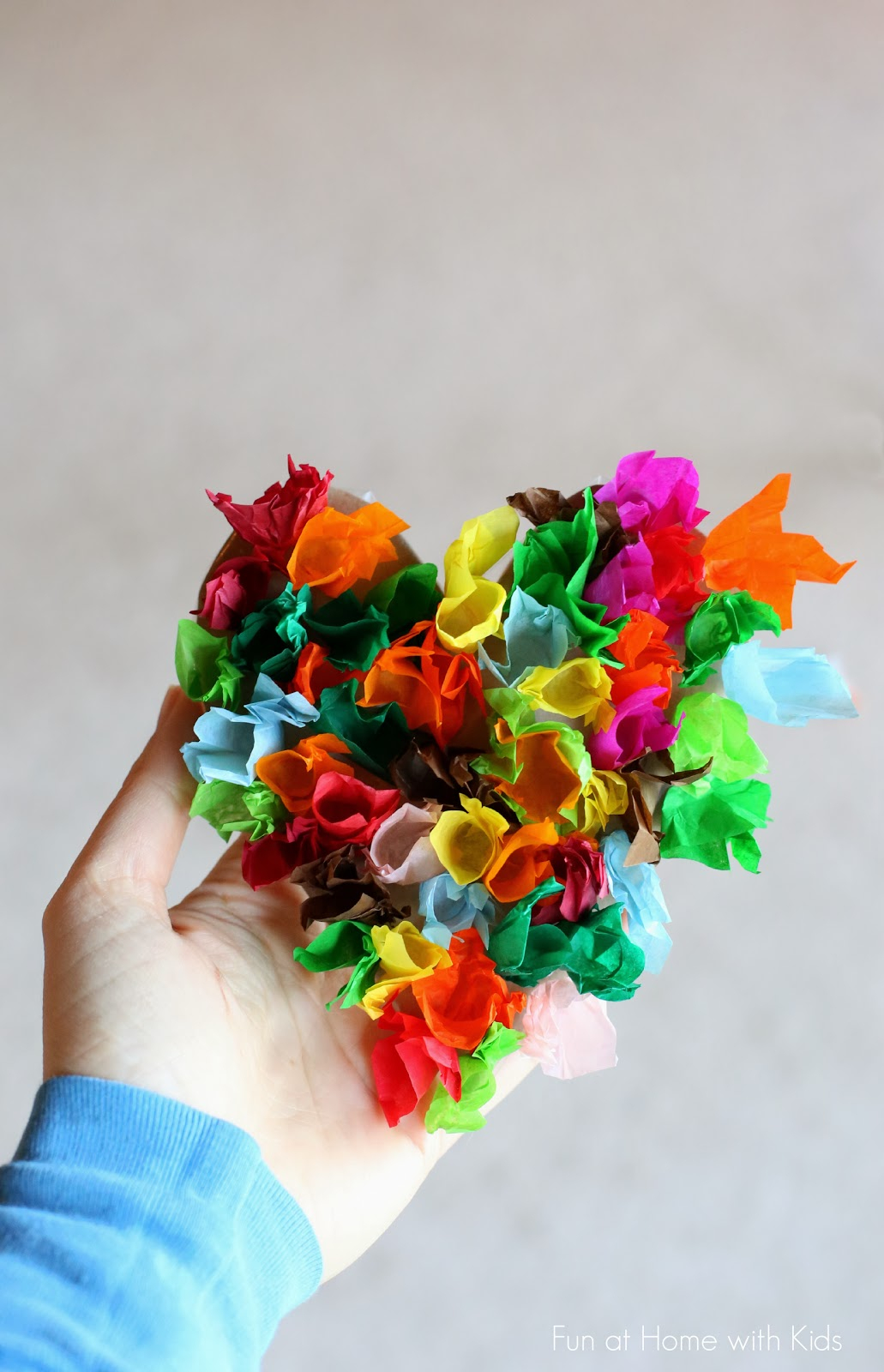 3 Easy Designs of Crafts Out Otissue Paper Heart Crafts For Kids For Valentines Day Simply Being Mommy