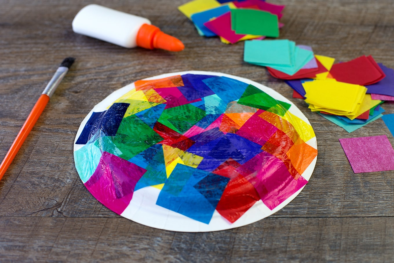 3 Easy Designs of Crafts Out Otissue Paper Tissue Paper And Paper Plate Turtle Craft