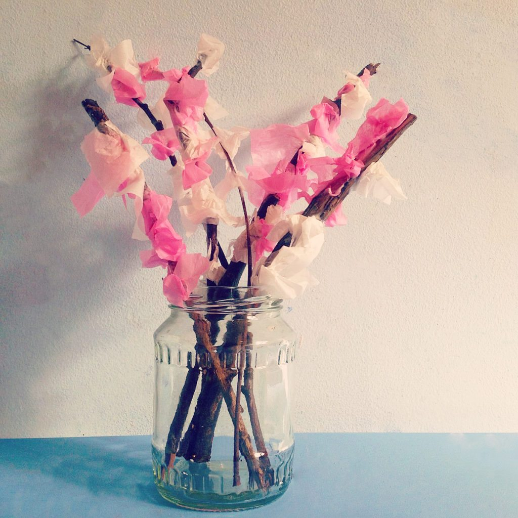 3 Easy Designs of Crafts Out Otissue Paper Tissue Paper Blossom Tree Clares Little Tots
